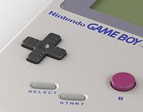 Gameboy - 3D Render