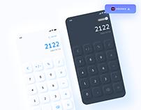 Calculator UI design - (Freebie)