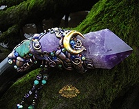 FAERY CRYSTAL SONG Amethyst Crystal Wand