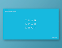 TRANSPARENCY Powerpoint Template