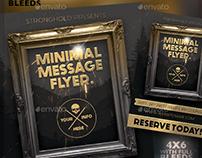 Vintage Gold Frame Event Flyer Template
