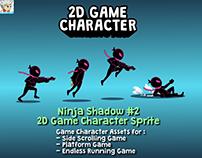Ninja Shadow #2 Game 2D Character Sprite
