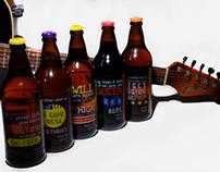 Design de embalagens temáticas para a Cervejaria Kûd