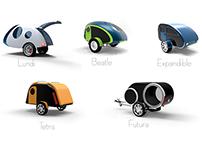 Mini Caravan - Concepts design (Concept 2 + Concept 4)