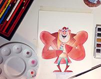 Watercolor studies of December