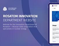 ROSATOM Innovation Department website