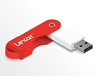 Image vectorielle   Clef USB