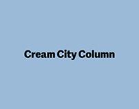 Cream City Column Newspaper Layout