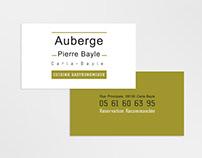 Auberge Pierre Bayle - Business Card Design
