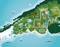 Maps & landscapes illustrations