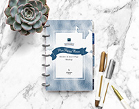 Discbound Mini Happy Planner Mock Up & Moveable Props