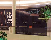 Custom PRIMARK videowall display in France.