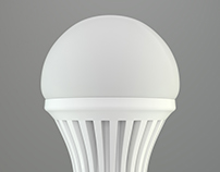 3D Model LED lamp