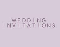 wedding invitations P&W