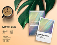 Holographic business card template / creative / card