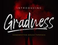 Gradness Brush Typeface