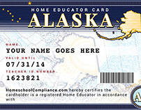 Home Educator Card Design