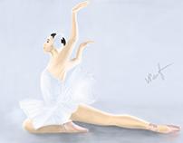 Dying Swan - Adobe Photoshop Sketch