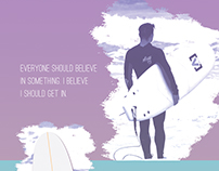 Design the print for my friend's surfboard