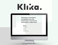 Klika - design studio visual identity