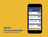 Adobe #IconContestXD – Prototype Your Creative City App