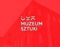Corporate identity for art museum. Graduate work.