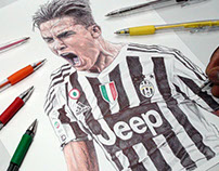 Dybala Ballpoint Pen Drawing