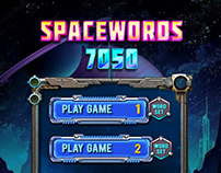Spacewords 7050 Game Main Screen Design