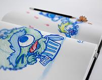 Blue pencil sketches vol. 1 - Fan Art