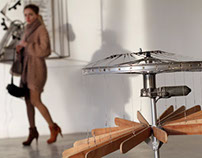 EXHIBITION KINETIC SCUPTURE IN GALLERY INDUSTIAL 11