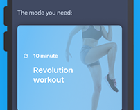 Simple sport training app
