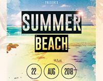Summer Beach - PSD Flyer Template