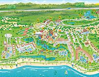 Mapa Costa do Sauípe