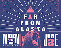 Far From Alaska @ Midem Festival - Gig Poster
