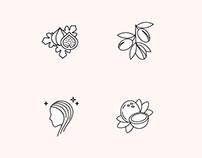 Natural Cosmetics Icon Set