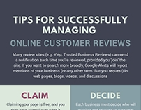 Tips for Successfully Managing Online Customer Reviews