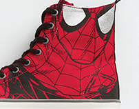 gap x marvel, spider-man hi-top sneaker; shoe design