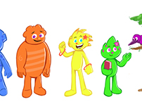 Diseño de personajes para programa infantil
