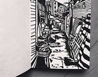 Sketchbook | Back alleys