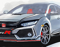 Honda Civic Type R illustration series