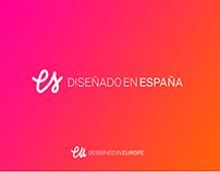"""""""Diseñado en España"""" quality seal."""