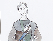 Making sketches of new collection