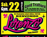 Afiche Lorenzo - lettering