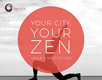 Zen yoga postcard, poster , social media designs