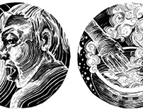 B/W Spot Illustrations: The Potionmaker's Cottage