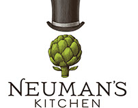 Newman's Kitchen Logomark illustrated by Steven Noble