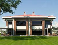 Exterior & Interior Renderings of a Villa