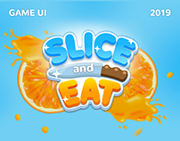 Slice and eat - hyper casual game for ios and android
