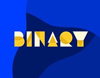 Binary - Animated Typeface
