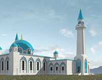 Mosque in mountains